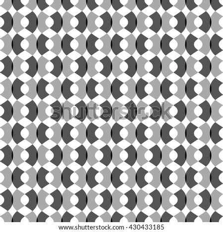Repeating black and grey wave pattern. Net background. Vector illustration. - stock vector