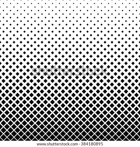 Repeating black and white abstract square pattern design background - stock vector