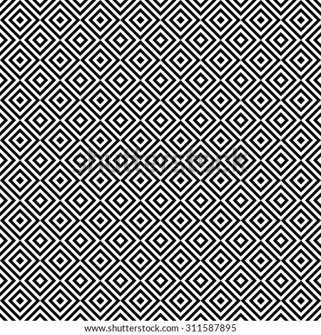 Repeating black and white square pattern