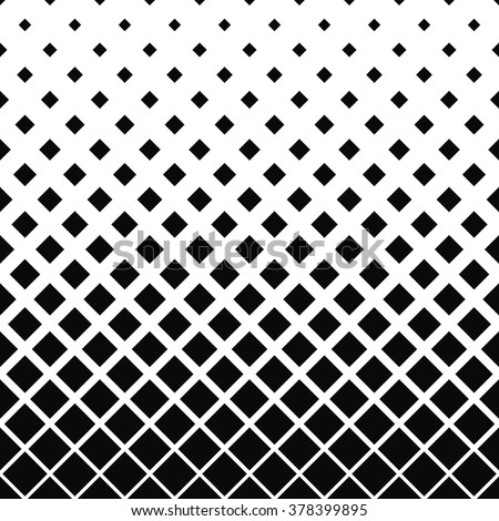 Repeating black and white vector square pattern design background - stock vector