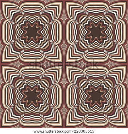 Repeating capuccino geometric kaleidoscopic background