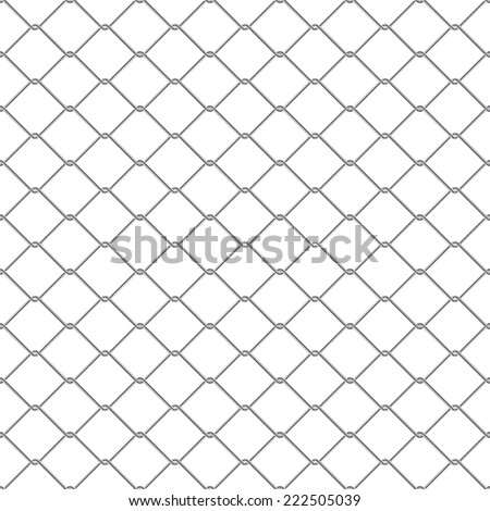 Repeating chain link fence. Tileable vector wallpaper that repeats left, right, up and down  - stock vector