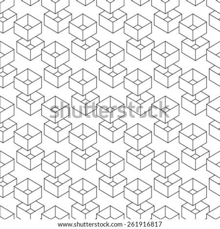 Repeating Geometric Background Isometric Cubes Vector ...