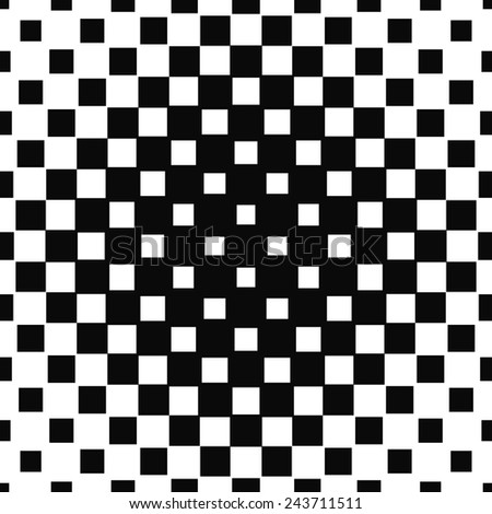Repeating halftone square pattern design - stock vector