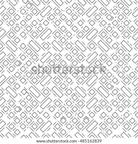 Repeating monochrome background. Vector seamless pattern. Abstract stylish background.
