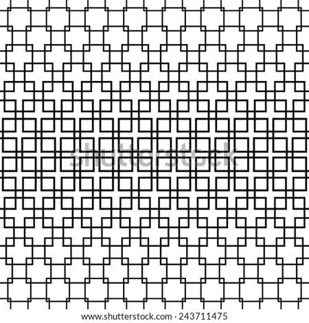 Repeating monochrome square pattern design - stock vector