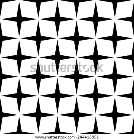 repeating seamless star style shapes - vector - stock vector