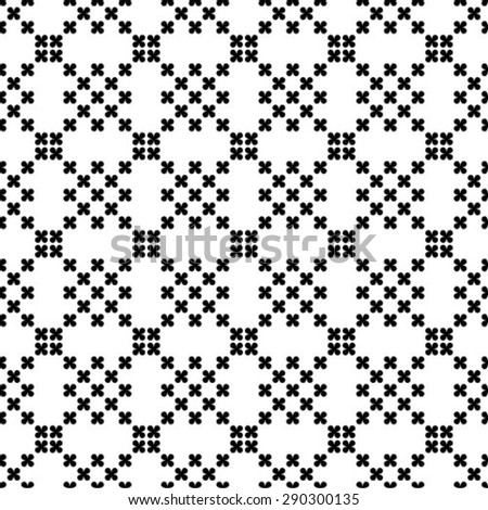 Repeating seamless vector background. Black and white texture. - stock vector