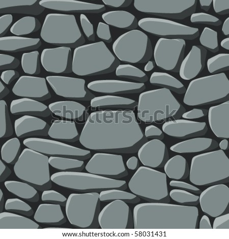 Repeating seamless vector pattern of grey stones including the seamless swatch for easy filling of any contours. - stock vector