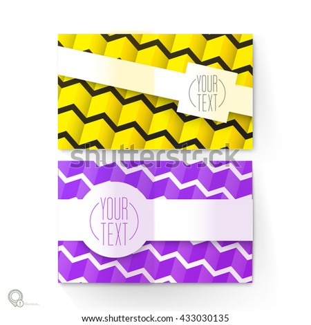 Repeating Texture on an A4 or A3 Vector Design Mock Up for Your Content - stock vector