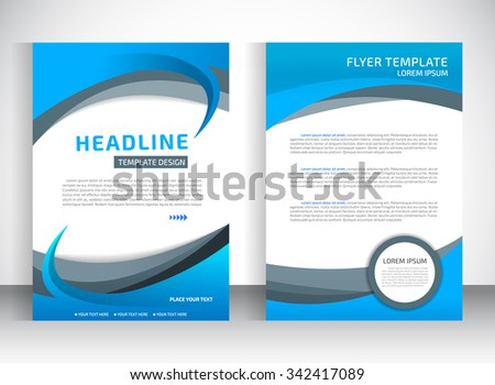 Report Cover Template Business Presentation Brochure Stock Vector