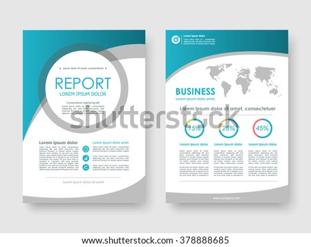 Report, flyer, brochure. Design layout template in A4 size - stock vector