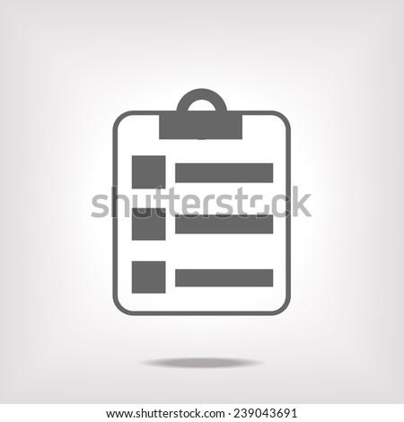 report icon - stock vector