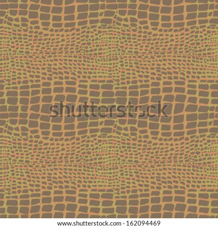 Reptile skin seamless pattern  - stock vector