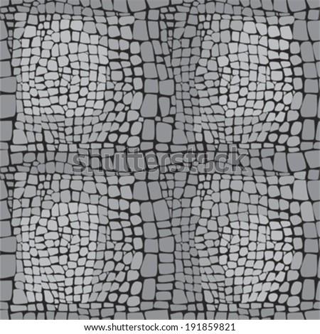 Reptile skin seamless vector pattern - stock vector