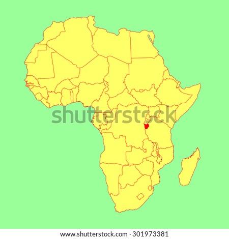 Republic Burundi Vector Map Isolated On Stock Vector 2018