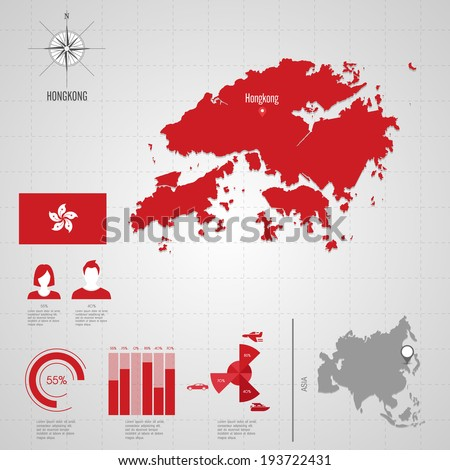 Republic hongkong flag asia world map stock vector 193722431 republic of hongkong flag asia world map travel vector illustration gumiabroncs Images