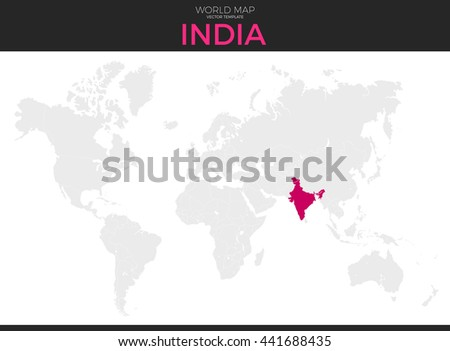 Color world map vector illustration empty vectores en stock republic of india location modern detailed vector map all world countries without names vector gumiabroncs Images