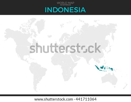 Republic indonesia location modern detailed vector stock vector republic of indonesia location modern detailed vector map all world countries without names vector gumiabroncs Choice Image