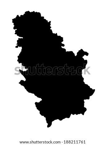 Republic of Serbia vector map isolated on white background. High detailed illustration. - stock vector