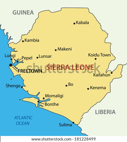Republic of Sierra Leone - vector map