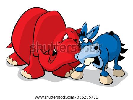 Republican Democrat - stock vector
