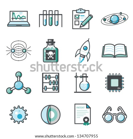 Research and Science  Harmony series icons. - stock vector