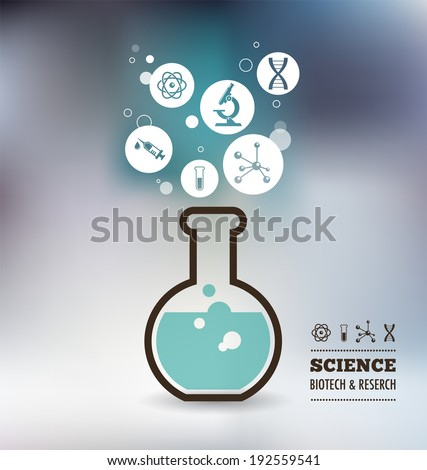 Research, Bio Technology and Science, Chemical laboratory infographic - stock vector