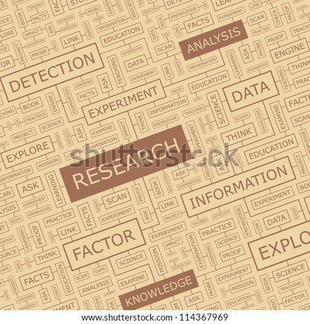 RESEARCH. Word collage. - stock vector