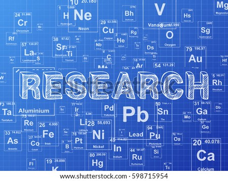 Research word on periodic table symbols stock vector 598715954 research word on periodic table symbols blueprint background urtaz Gallery