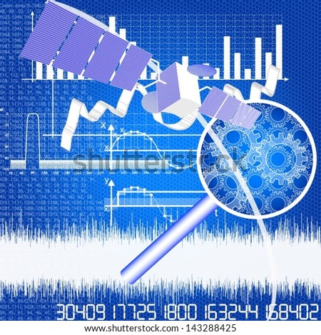 researching and data analyzing - stock vector