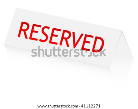 reserved panel - stock vector
