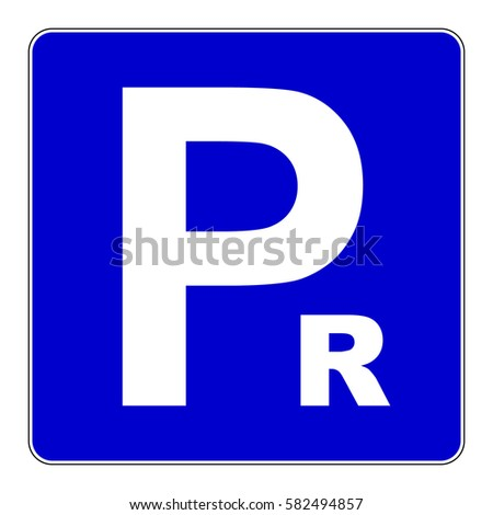 Reserved Parking Sign Blue Parking Sign Stock Vector 582494857