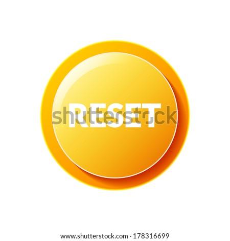 Reset button  - stock vector