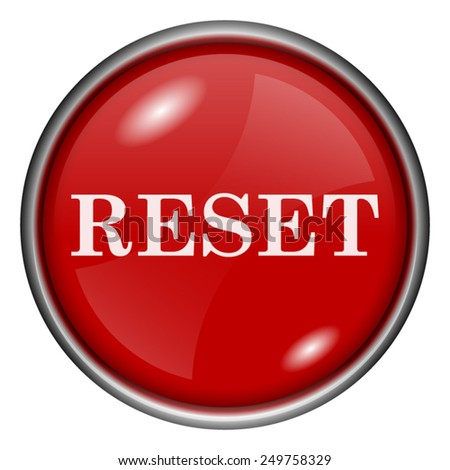 Reset icon. Internet button on white background.  - stock vector