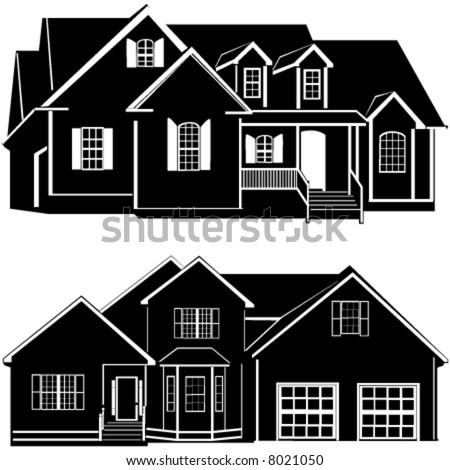 residences building vector 6 - stock vector