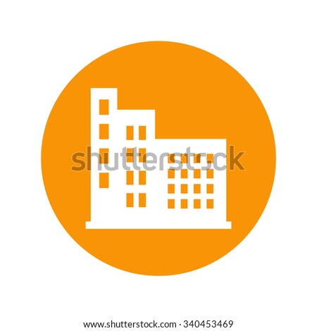 residential building icon - stock vector