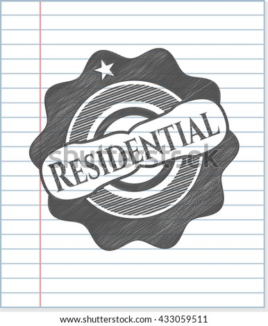 Residential penciled