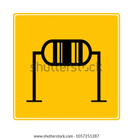 Resistor Symbol Yellow Background Stock Vector 1057251287 Shutterstock