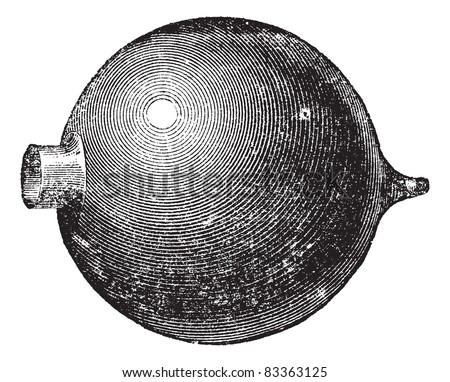 Resonator, vintage engraving. Old engraved illustration of Resonator isolated on a white background. Trousset encyclopedia (1886 - 1891). - stock vector