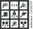 Resource finance and Business concept icon set,Vector - stock vector