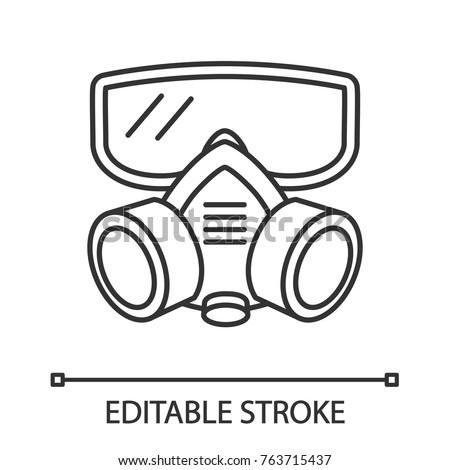 Respirator Linear Icon Gas Mask Pest Stock Vector 763715437 ...