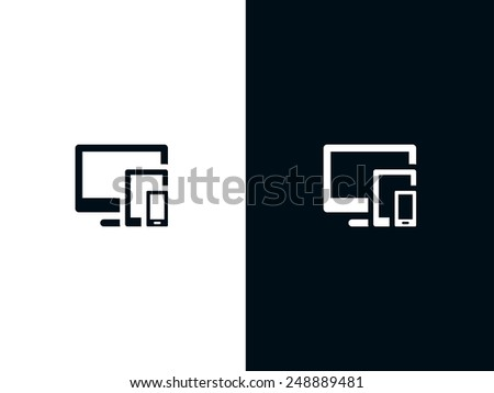 Responsive icon - stock vector