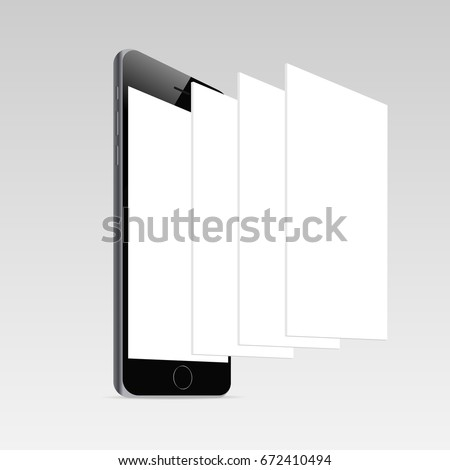 Responsive mobile screen mockup i phone 6 stock vector royalty free responsive mobile screen mockup iphone 6 with blank screen and blank framework web pages maxwellsz