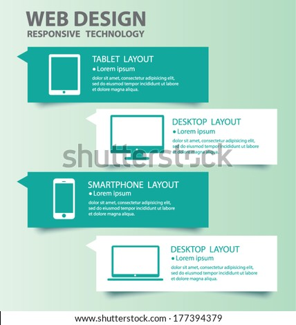 Responsive Web Design. Vector eps10 - stock vector