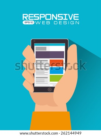 Responsive web design, vector illustration.