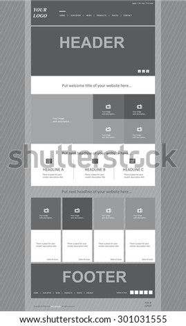 responsive web layout template for business or non-profit organization