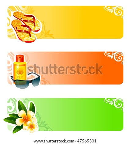 Rest and travel vector banners - stock vector