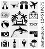 Rest, Travel and Summer icons - stock vector