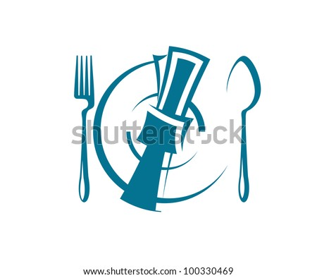 Restaurant and menu symbol, such logo. Jpeg version also available in gallery - stock vector